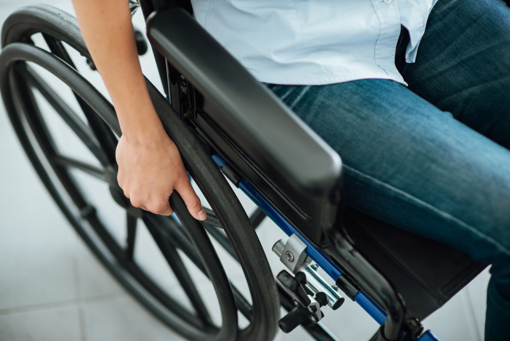 Person on wheelchair